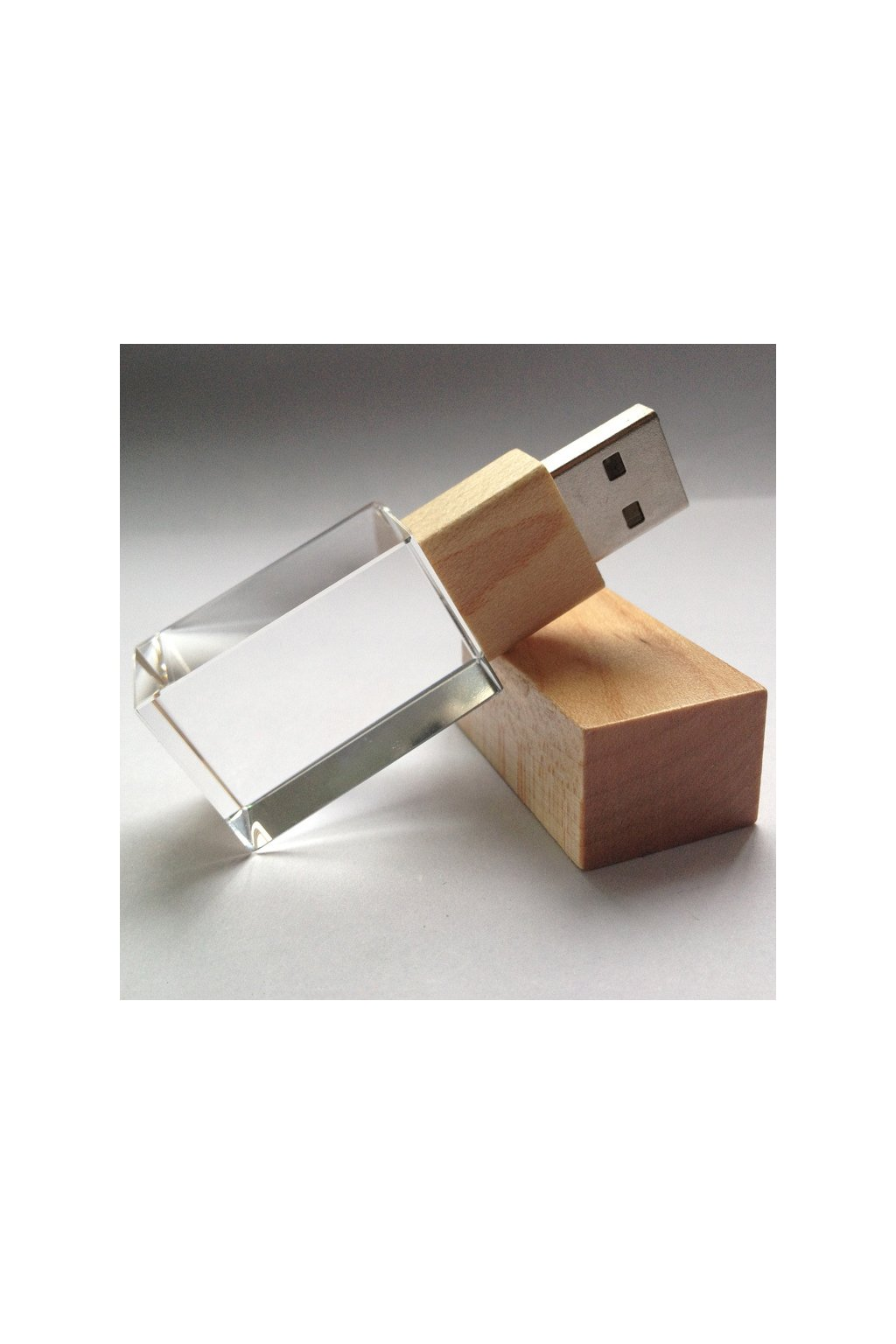 High quality free sample wooden Crystal usb